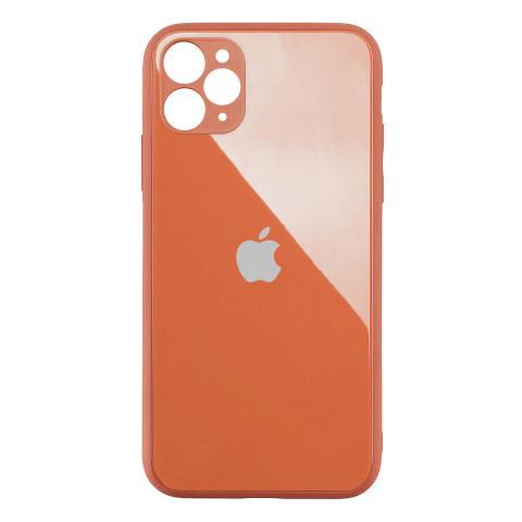 Стеклянный чехол с защитой для камеры для iPhone 11 Pro Orange