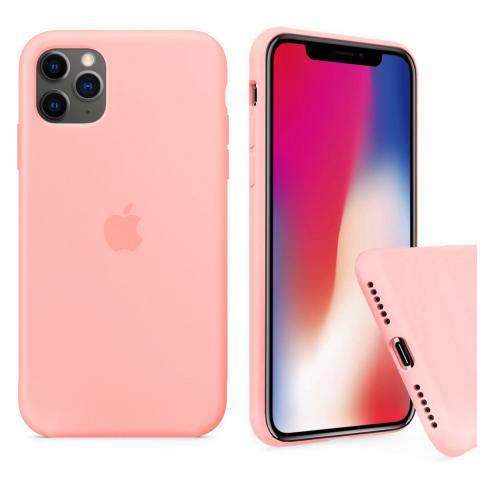 Чехол Full Silicone case для iPhone 11 Pro - Grapefruit