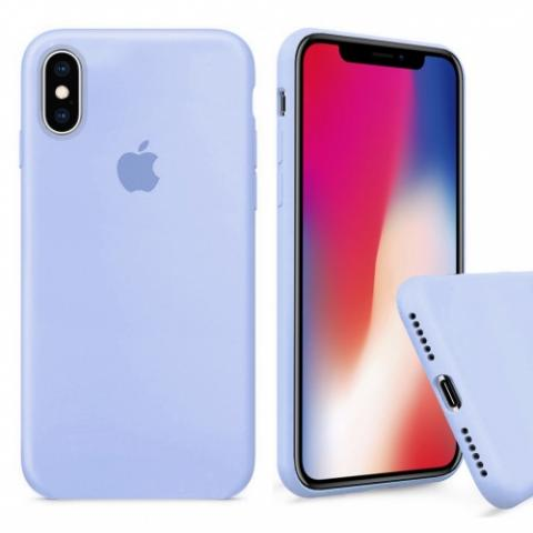 Чехол Full Silicone case для iPhone X/XS - Lilac