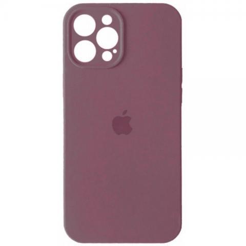 Силиконовый чехол с защитой для камеры для iPhone 12 Pro Max - Blueberry