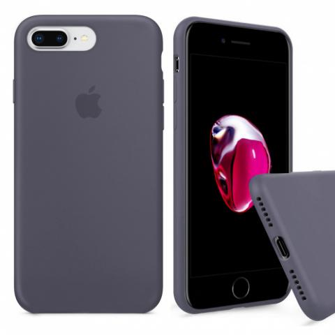 Full Silicone Case for iPhone 8 Plus/7 Plus - lavender gray