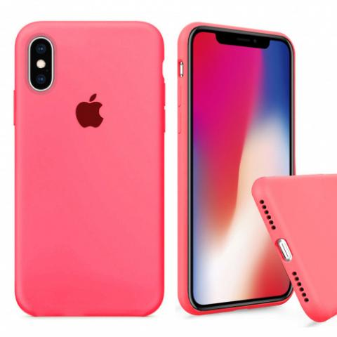 Чехол Full Silicone case для iPhone X/XS - Coral