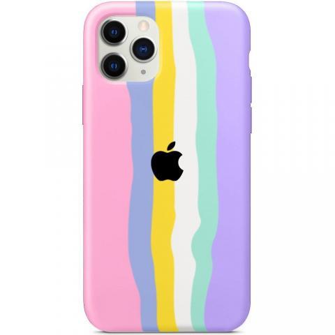 Чехол Rainbow Case для iPhone 11 Pro Max Pink/Glycine