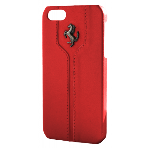 Ferrari Montecarlo Collection Leather Hard Case for iPhone 5/5s - red
