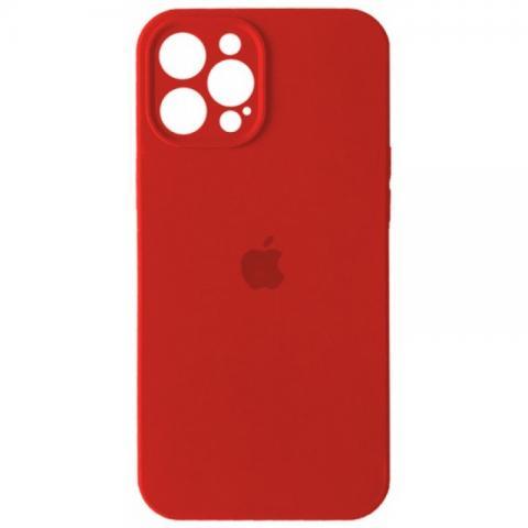 Силиконовый чехол с защитой для камеры для iPhone 12 Pro Max - Red
