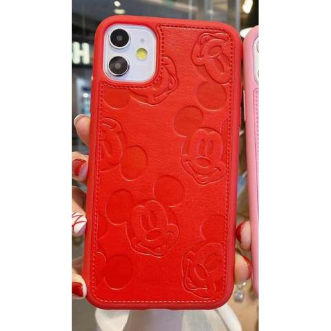 Чехол Mickey Mouse Leather для iPhone 11 - Red