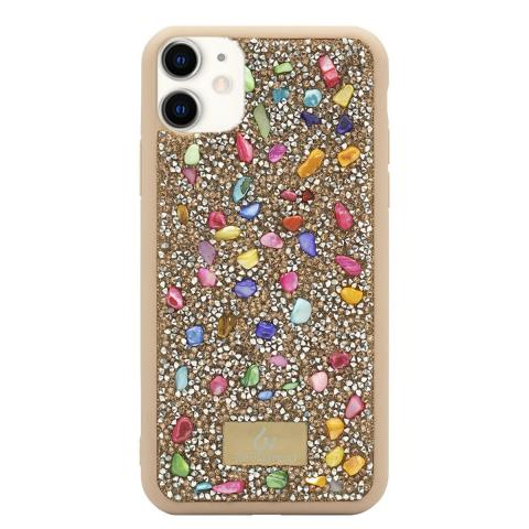 Чехол Bling World Pearl Diamonds (TPU) iPhone 11 Pink/Gold