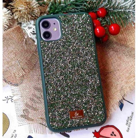 Чехол Bling World Pearl Diamonds (TPU) iPhone 11 Emerald (Изумруд)