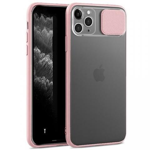 Чехол Slide Hide Camera для iPhone 11 Pro Max - pink