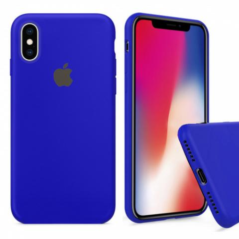 Чехол Full Silicone case для iPhone X/XS - Ultramarine