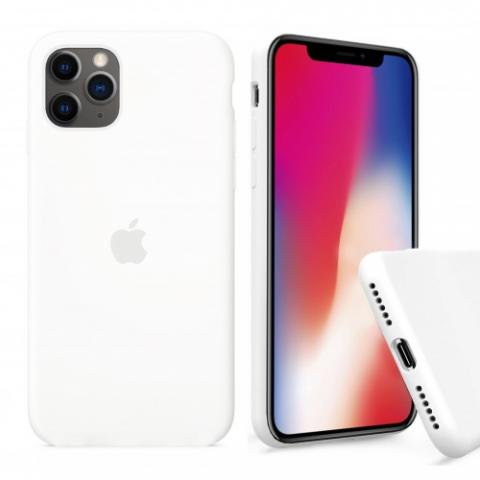 Чехол Full Silicone case для iPhone 11 Pro Max - White