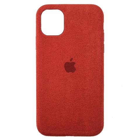 Чехол Alcantara для iPhone 12/12 Pro - Red
