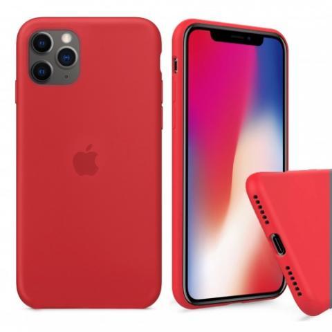 Чехол Full Silicone case для iPhone 11 Pro - Red