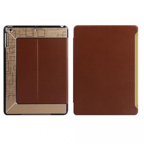 Чехол с орнаментом iBacks Flame коричневый для iPad Air