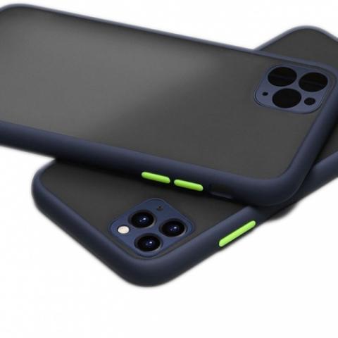Противоударный чехол HULK с защитой для камеры для iPhone 11 Pro Max - Blue/Green