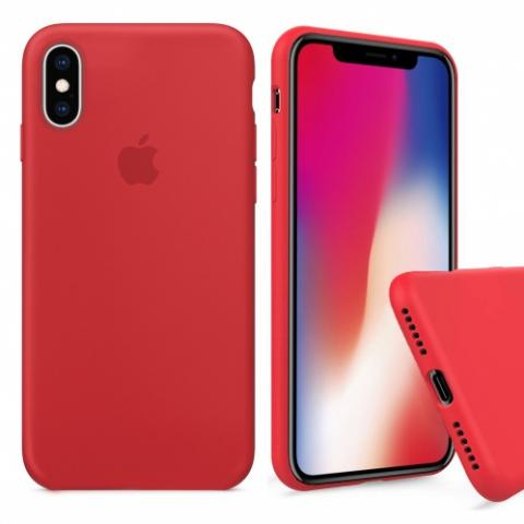 Чехол Full Silicone case для iPhone X/XS - Red