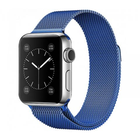 Ремешок Milanese Loop Blue для Apple Watch 42/44 mm