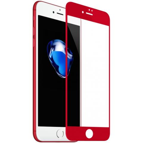 Защитное стекло Baseus PET Soft 3D Tempered Glass 0.23mm Red для iPhone 7