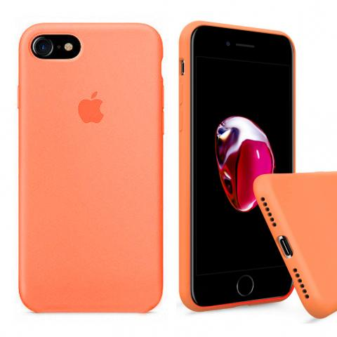 Full Silicone Case for iPhone 8/7 - Orange