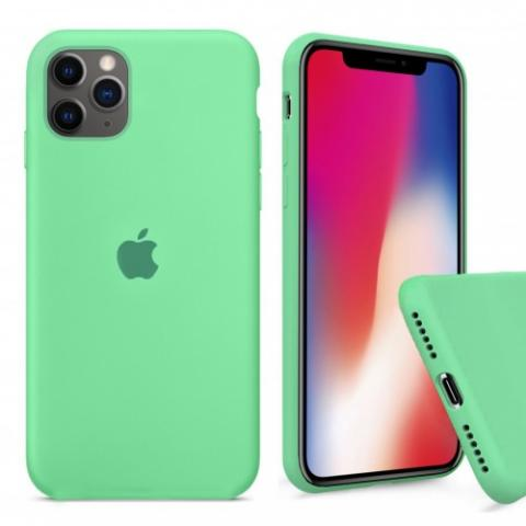 ехол Full Silicone case для iPhone 11 Pro - Spearmint