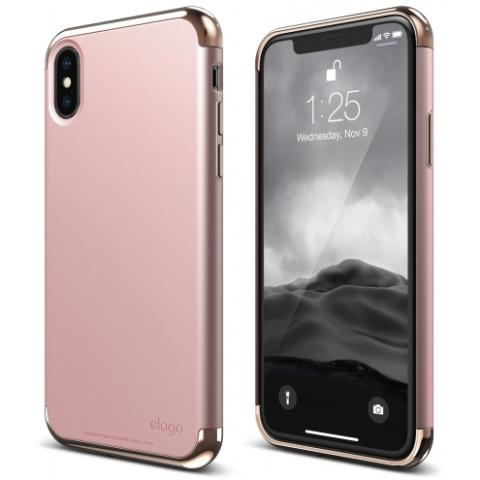 Чехол Elago Empire Case Chrome Rose Gold/Red for iPhone X (ES8EM-RGDRD)