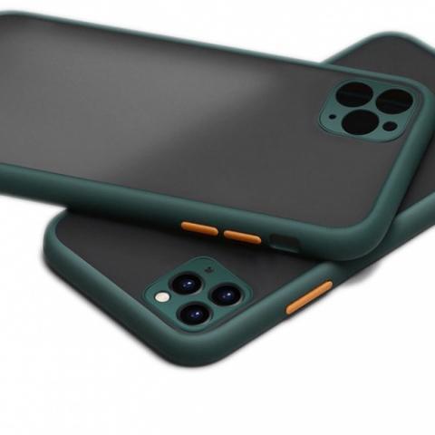 Противоударный чехол HULK с защитой для камеры для iPhone 11 Pro Max - Forest Green/Orange