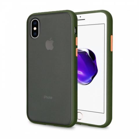 Противоударный чехол AVENGER для iPhone XR - Khaki/Orange