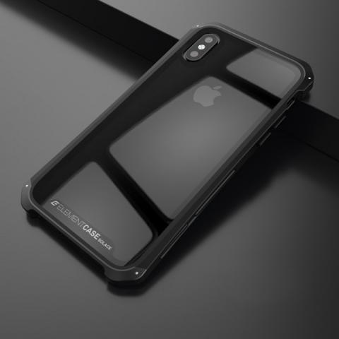 Чехол-накладка для iPhone XS Max Element Case Solace Metal Glass Black