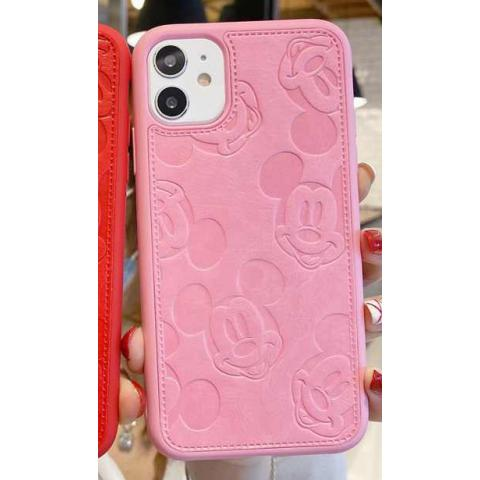 Чехол Mickey Mouse Leather для iPhone 11 - Pink