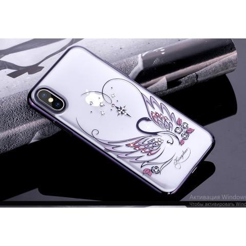 Чехол-накладка Kingxbar Swarovski Swan Series для iPhone X Black