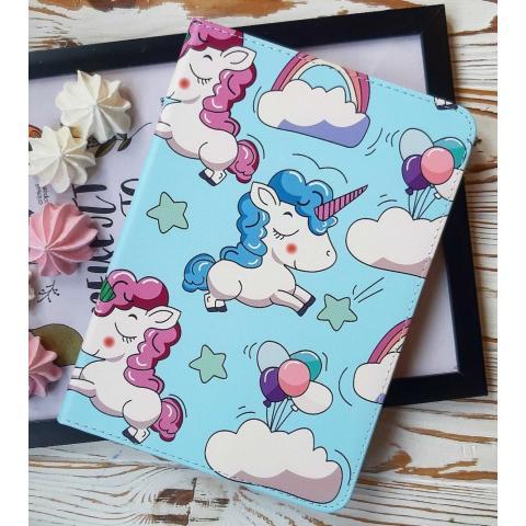 """Чехол Print Case для iPad 9.7"""" (2017/2018) - Unicorn Blue"""