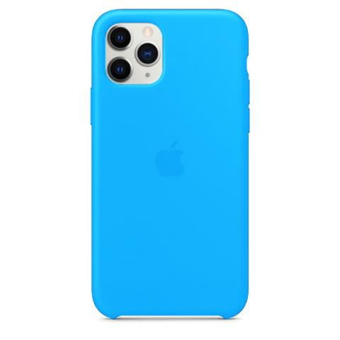 Apple Silicone Case для iPhone 11 Pro Max - Blue (Hi-Copy)