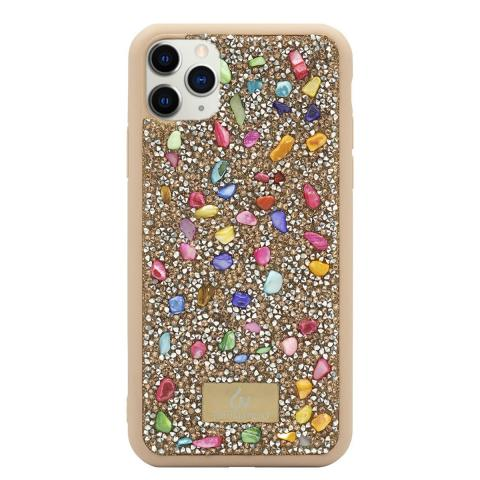 Чехол Bling World Pearl Diamonds (TPU) iPhone 11 Pro Pink/Gold