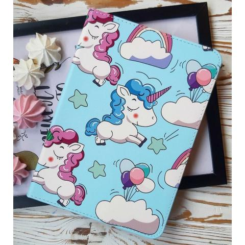 Чехол Print Case для iPad 4/ iPad 3/ iPad 2 - Unicorn Blue