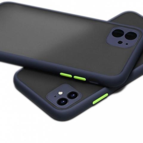 Противоударный чехол HULK с защитой для камеры для iPhone 11 - Blue/Green