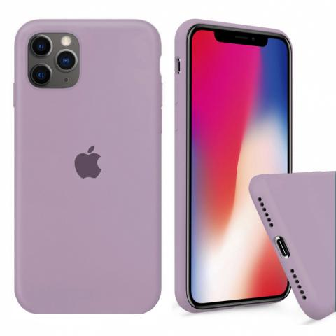 Чехол Full Silicone case для iPhone 11 Pro Max - Blueberry