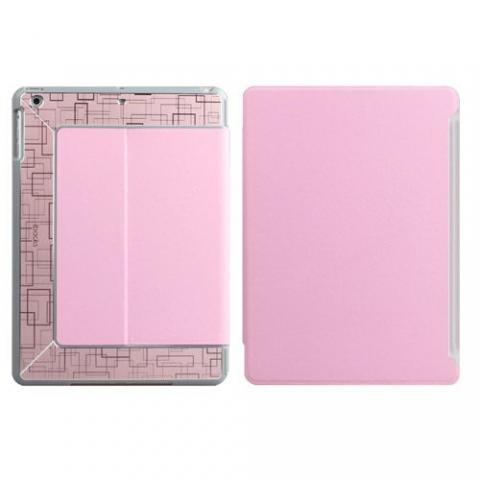 Чехол с орнаментом iBacks Flame розовый для iPad Air