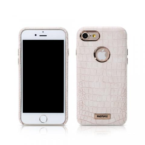REMAX Maso Series Crocodile Leather Coated Hard Case for iPhone 7 - White