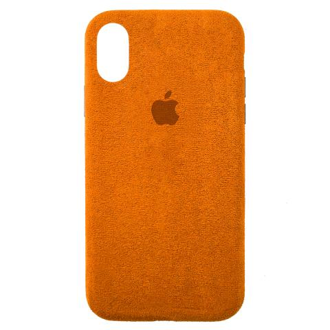 Чехол ALCANTARA для iPhone XR Orange