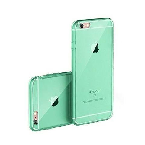 """Силиконовый прозрачный чехол для iPhone 6/6s (4.7"""") - бирюзовый"""