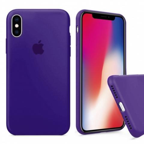 Чехол Full Silicone case для iPhone X/XS - Ultraviolet