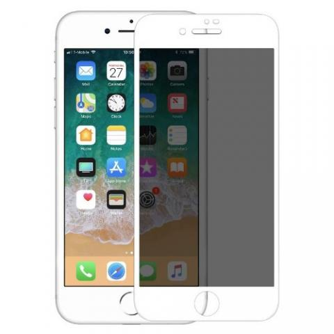 Защитное стекло анти-шпион Anti-Spy для iPhone 7 Plus/ 8 Plus - белое (глянец)