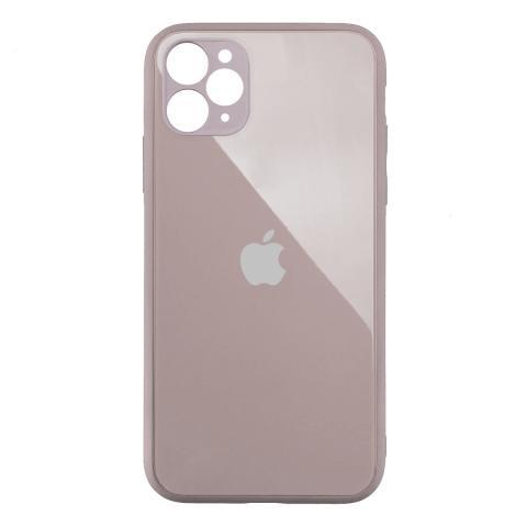 Стеклянный чехол с защитой для камеры для iPhone 11 Pro Pink Sand