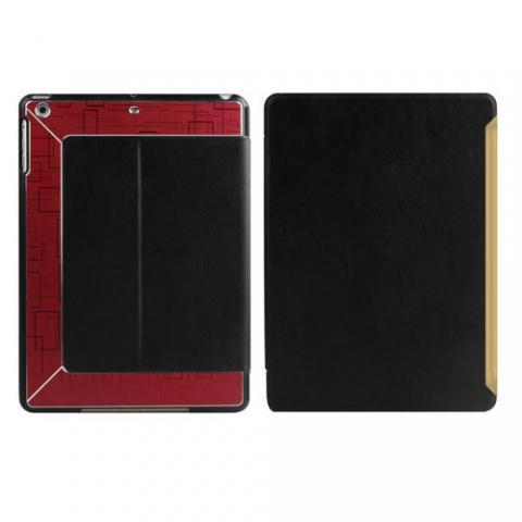 Чехол с орнаментом iBacks Flame черный + красный для iPad Air