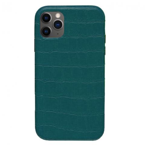 Чехол Crocodile Full Leather Case для iPhone 11 Pro Forest Green