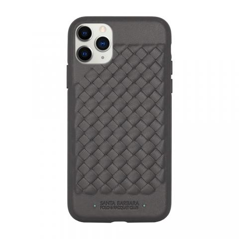 Кожаный чехол Polo Ravel серый для iPhone 11 Pro Max