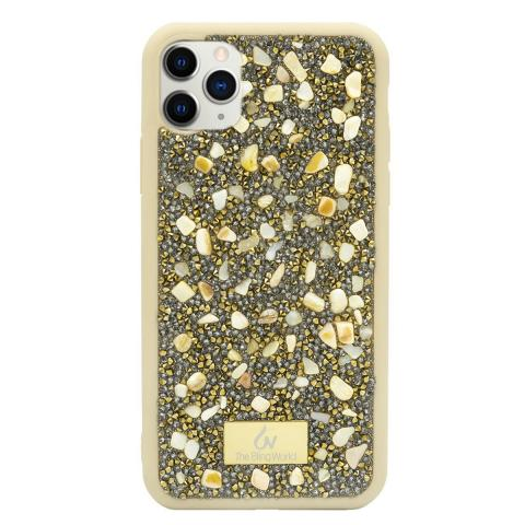 Чехол Bling World Pearl Diamonds (TPU) iPhone 11 Pro Max Gold