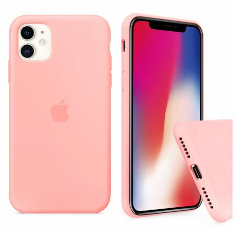 Чехол Full Silicone case для iPhone 11 - Grapefruit