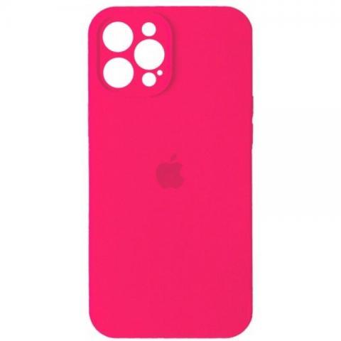 Силиконовый чехол с защитой для камеры для iPhone 12 Pro Max - Barbie Pink