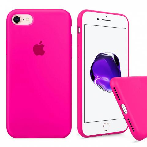 Full Silicone Case for iPhone 8/7 - Barbie Pink